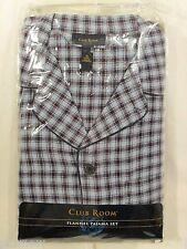 Men's Club Room by Macy's Flannel Pajama Set Retail $70 Button-Up Long Sleeved