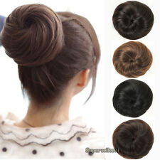 NEW Fashion Japanese Bud head Hair Bun Hairpiece Ladies Girls Clip-on False Hair