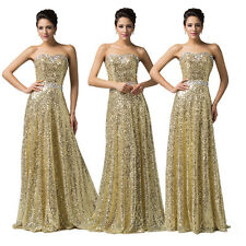 Hot Sequins Party Evening Dress Formal Ceremony Ballgowns Long Maxi Prom Dresses