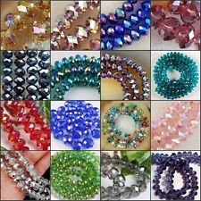 Fashion Wholesale Girls Crystal Faceted Rondelle Loose Beads Glass Spacer Clolor