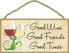 Decorative Fun WINE Designs Wood 10x5 Plaque Sign Your Choice NEW Gift