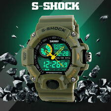Waterproof Digital LED Alarm Date Mens Wrist Watch Military Sport Analog Watch