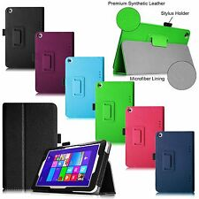 For Toshiba Encore 2 WT8-B32CN /B64CN 8.0-inch Windows Tablet Leather Case Cover