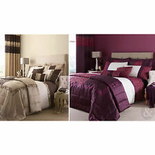 LUXURY DAMASK DUVET COVER - Embroidered Bedding Quilt Cover Bed Set