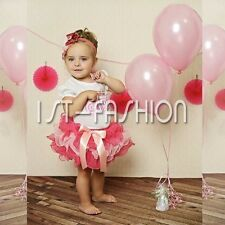 Baby Girls 2PCS Outfit Top T-shirt Tutu Skirt Romper Dress Birthday Party 6-24M