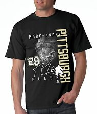 Marc Andre Fleury Pittsburgh Penguins Goaltender.  100% Cotton Black Shirt