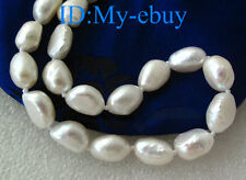 """47 Sold Relist White Baroque Freshwater Pearl Necklace 14K GP 18"""" or 20"""""""