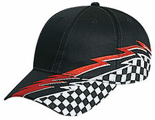 Racing Pattern Cotton Twill Low Profile Pro Style Cap 58-760