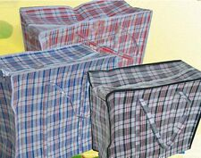Luggage Bags Large Plastic Zipper Bag Woven Laundry Groceries Storage Bags