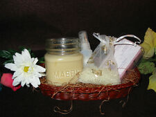 Handmade Candle/Aroma Beads/ Room Spray in Basket with Tarts T-W