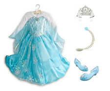 Limited DISNEY STORE Frozen ELSA Deluxe Edition Dress Lot COSTUME Gown All Sizes