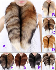Women high quality Fox Tail scarf real fur scarf neck warmer shawl wraps collar