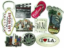 CALIFORNIA LOS ANGELES HOLLYWOOD DOWNTOWN LAX THEME LAS VEGAS SOUVENIR MAGNET