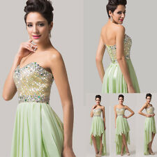2015 High-Lo Sexy Evening Quinceanera Lady Cocktail Dresses Bridal Party Wedding