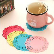Edge Colourful Coaster Silicone Cup Drinks Holder Mat Tableware Placemat Home