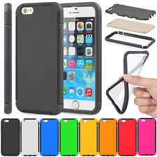 Slim Full Body Protection Combo Case Built-in Screen Film For iPhone 6 & 6 Plus
