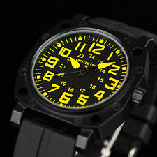 INFANTRY ANALOG MILITARY ARMY QUARTZ BLACK RUBBER SPORT MENS OUTDOOR WRIST WATCH
