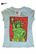 KEITH HARING - OFFICIAL STATUE OF LIBERTY TOP (NEU/NEW) T-SHIRT NEW YORK RETRO