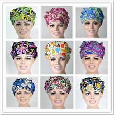 Nurses/Doctors Flowers Printing Scrub Bouffant Cap Medical Surgical Surgery Hat