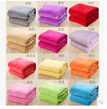 Pure color coral fleece upgrade Farley blanket air conditioning blanket sheets