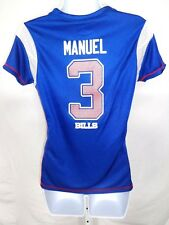 Buffalo Bills Football EJ Manuel Ladies Draft Me Jersey Shirt Blue