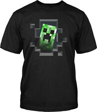 Minecraft Creeper Inside Officially Licensed Kids Youth T-Shirt - Black