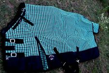 1200D Turnout Waterproof Horse WINTER BLANKET HEAVY WEIGHT Turquoise 530G