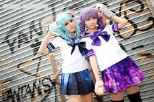 Galaxy Seifuku Sailor Uniform, Blue and Purple, all sizes, ships from US
