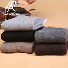 5 Pairs New Pure & Comfortable & Warm Mens Wool Cashmere Socks One Size Fift all