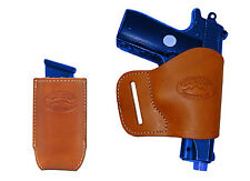 NEW Barsony Tan Leather Yaqui Holster + Mag Pouch Beretta Kahr 380 UltraComp 9