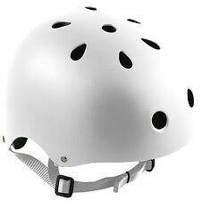 Oxford Bomber White Cycle Helmet BMX Cycling Bicycle Skate Extreme Sports Safety