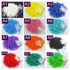 New Hot Sale Rubber Loom Bands Refill Kits For Rainbow DIY Bracelet Making Sets