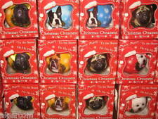 Christmas Ball Ornament Cats Horses 35 Dog Breeds Pug Boxer Chow Beagle More