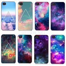 New Galaxy 3D Case Snap On Back Painted Skin Cover for Apple iPhone 4 4S 5 5S