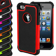 TUFF Armor Hybrid Case Skin Phone Hard Rubber Cover For Apple iPhone 4 4S 5 5S