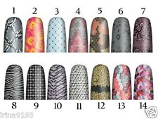 OPI PURE LACQUER NAIL STICKERS APPS 16 PRE-CUT STRIPS - CHOOSE DESIGN