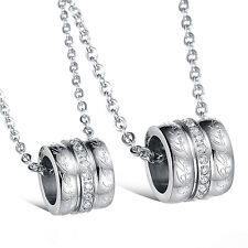 Charm Stainless steel Rord Ring style Pendant Couple Necklace Men Women Jewelry