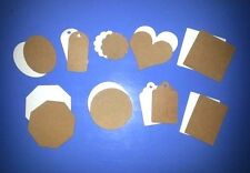 Kraft Paper Hang Tags Wedding Party Favor Birthday Punch Label Price Gift Cards