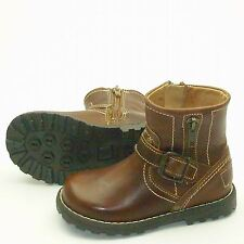 Boys STEP2WO SHAFT Med Boot Brown Leather