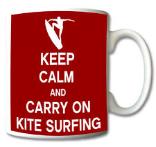 KEEP CALM AND CARRY ON KITE SURFING - MUG/CUP/PRESENT/GIFT