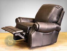Barcalounger Premier II Genuine Leather Recliner Lounger Chair - Stetson Coffee