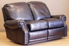 NEW Barcalounger Premier II 2 Seat LoveSeat Sofa Chair Stetson Coffee Leather