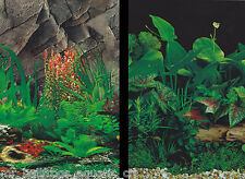 """Aquarium Fish Tank Background by the foot  ~ 24"""" Height Two-Sided ~ style 048"""
