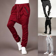 Men Casual Baggy Training Jogger Tracksuit Trousers Relaxed Sweat Harem Pants