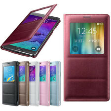 Luxury S-View Flip Smart Leather Case Cover for Samsung Galaxy Note 4 Original