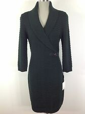 Calvin Klein NEW ribbed  sweater dress Spruce Green , long sleeve,shawl collar