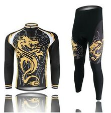 Hot Cycling Bike Bicycle Clothing Men's Wear Long Sleeve Jersey Pants Suit S-4XL