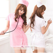 Newest Sexy Valentine's day Nurse Cosplay fany dress garter suspender outfits