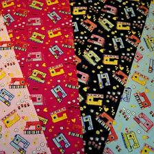 Sewing Machines Love Hearts Floral Patchwork 100% Cotton Poplin Fabric