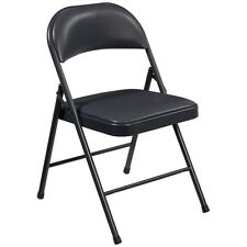 National Public Seating Commercialine Vinyl Padded Folding Chair Set of 4